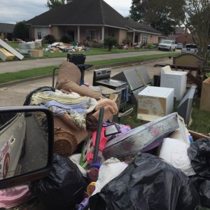 Mission Love Seeds went to Louisiana to help people clean up their houses after flood.